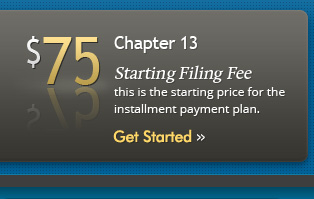 $75 to file for Chapter 13